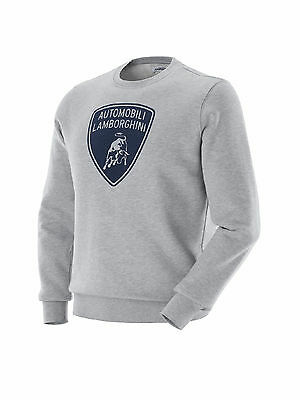 Lamborghini Genuine Light Gray Melange Shield Sweatshirt Oem # 9109015Cce067