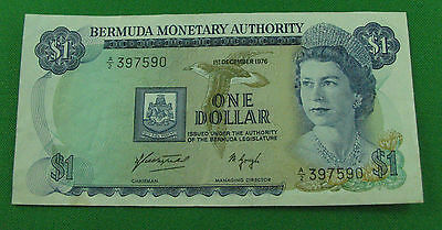 Bermuda one dollar 1976  P28a very nice condition circulated