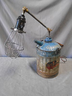 Industrial Machine Age Steampunk Repurposed Articulated Nesco Oil Can Lamp