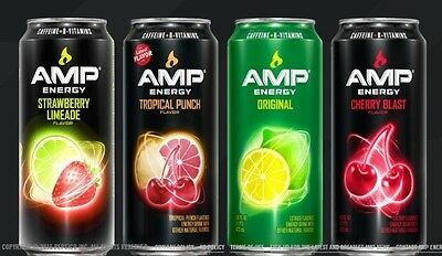 Amp Energy Drink -NEW FLAVORS- 16oz cans - 16 pack