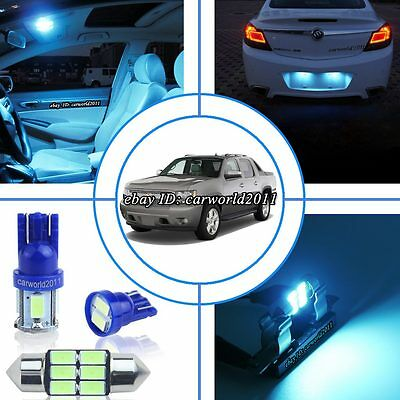 11 Aqua Ice Blue LED Interior Dome Light Package Kit For Chevy Avalanche  2007~13