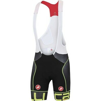 SALOPETTE CASTELLI FREE AERO RACE KIT VERSION NERO GIALLO FLUO Size S