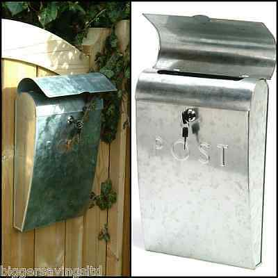 New Garden Trading Post Box - Galvanised With Lock & Two Keys