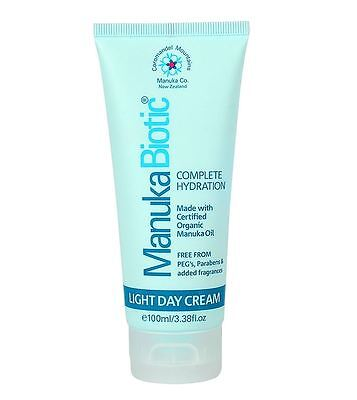New Manuka Biotic Complete Hydration Light Day Cream 100ml Treat Acne