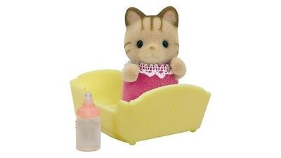 Sylvanian Families Striped Cat Baby, the Tiniest Addition to the Sandy Family