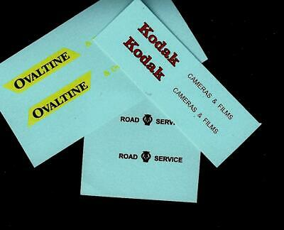MATCHBOX CUSTOM/CODE 3 TRANSFERS/DECALS for 25a BEDFORD VAN