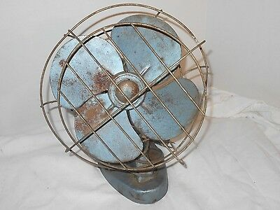 Vintage Collectible Light weight metal Montgomery Ward WIRE Cage Electric Fan