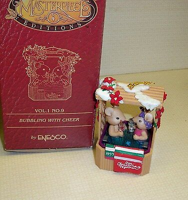 "enesco Masterpiece  Ornament ""Bubbling with Cheer"" in Box"