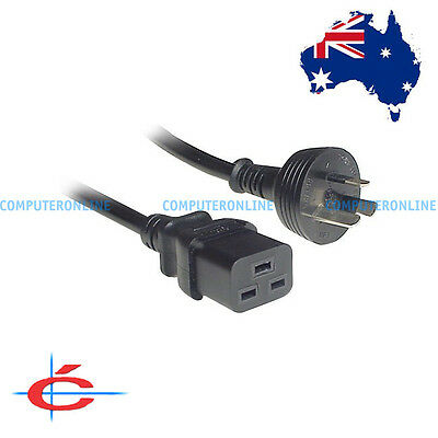 1.8 meter UPS Power Cord Cable 15amp 15A 3 Pin Wall to IEC C19