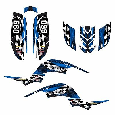 Yamaha Raptor 660 graphics 660R custom deco sticker kit #3500BLUE