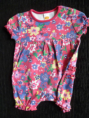 Baby clothes GIRL 3-6m Minimode dress-style romper pink/blue floral  SEE MY SHOP