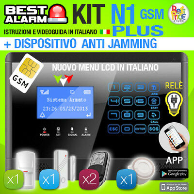 Antifurto Kit N1 Plus Allarme Casa Combinatore Gsm Pir Wireless  Antijamming