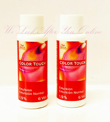 Wella Color Touch Emulsion Lotion 60ml 1,9% 6vol or Intensive Emulsion 4% 13vol