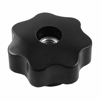 SS 8mm Diameter Thread Hole Black Star Head Clamping Knob Replacement