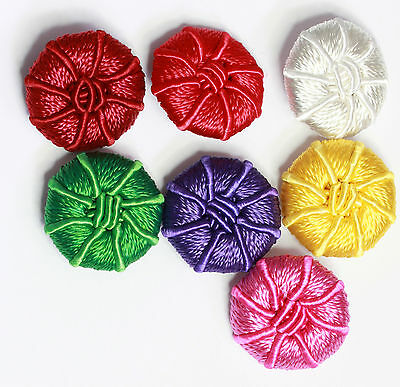 Handmade Passementerie Cord Braided Dome Buttons Size:20L 3 Different Col. #22
