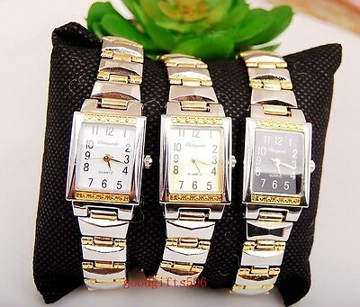 New 10pcs Fashion Square girls ladies Steel stainless Wrist watches gifts SW6