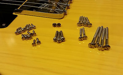 Telecaster Broadcaster Esquire Slotted Vintage Screws