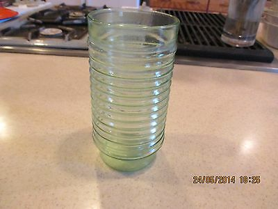 Vintage Manhattan Style Glass Tumbler 16 Ounce Concentric Rings Anchor Glass