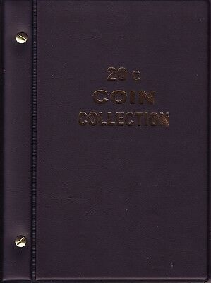 BLACK VST AUSTRALIAN 20c COIN ALBUM  1966 to 2013 6 pages with printed sheet