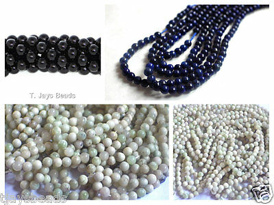 Semi Precious Gemstone Rounds Beads for Jewellery Making - 2mm