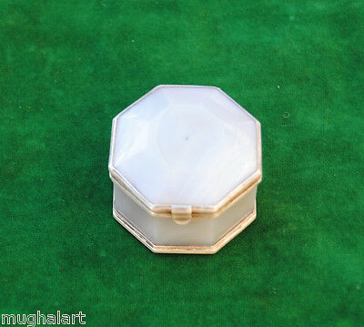 Antique OTTOMAN ISALMIC Mughal AGATE  n Silver jewellery BOX QING Dynasty