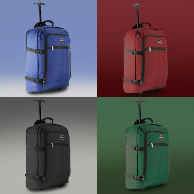 Wheeled Cabin Bag Hand Luggage Trolley Laptop Lightweight Suitcase Flight Case