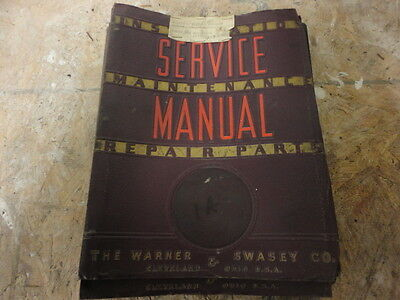 Warner Swasey 1A Turret Lathe Service Manual Operator Maintenance and parts