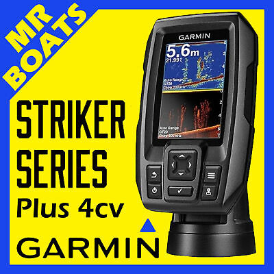 GARMIN STRIKER PLUS 4CV FISHFINDER GT20-TM Transducer GPS Fish Finder FREE POST