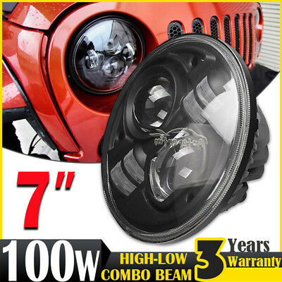 7inch H4 100W CREE LED Driving Light Headlight Lamp For Land Rover Benz-G55 Jeep