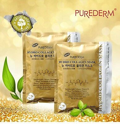 [purederm]Hydro Collagen Facial skin care Mask Pack sheets,Moisture,Free paraben