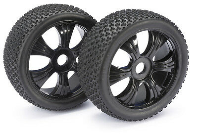 "Absima 1/8 LP Buggy Pin Spike ""Dirt"" Wheels/Tyres 17mm Hex HPI Trophy 2520011"
