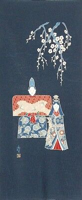 Japanese Cotton Quilt Panel [ Hina Doll ]