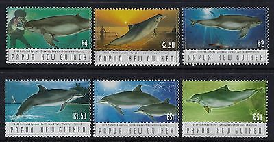 2003 Papua New Guinea Endangered Species: Dolphins Set Of 6 Fine Mint Mnh/muh
