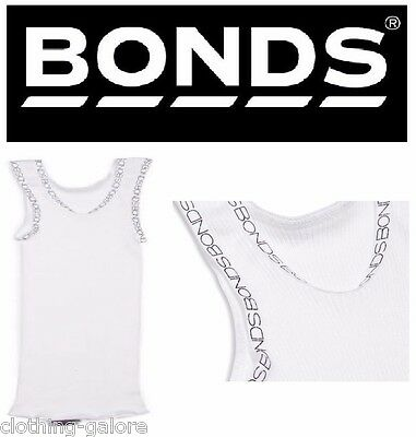 Bonds Baby Boys Girls Boy Girl Signature White Vest Cotton Chesty Size 0 00 000