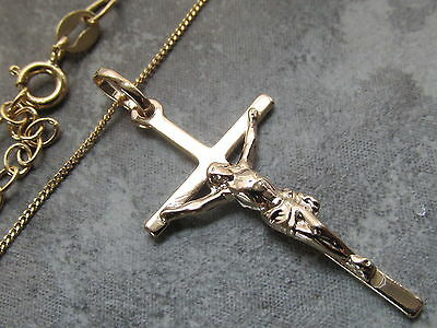 18CT Gold  Plated Crucifix Cross Pendant Necklace with or without chain