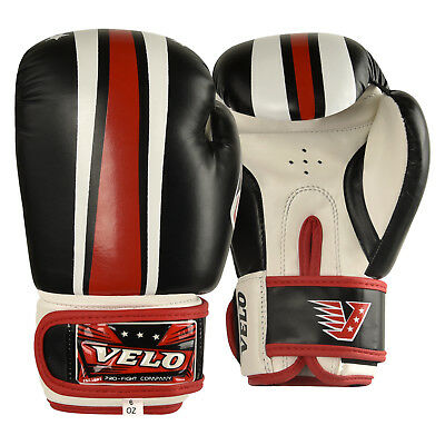 VELO Boxing Gloves 6oz Kids Junior Mitts Punch Bag Children MMA Youth Boys