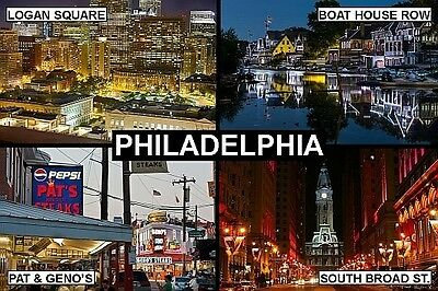 SOUVENIR FRIDGE MAGNET of PHILADELPHIA PENNSYLVANIA USA