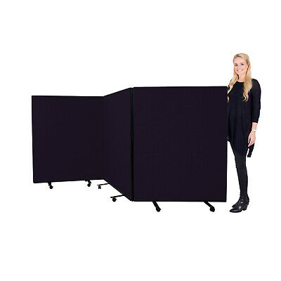 Mobile Medium Triple Display Screen / Partition / Room Divider - 14 Colours