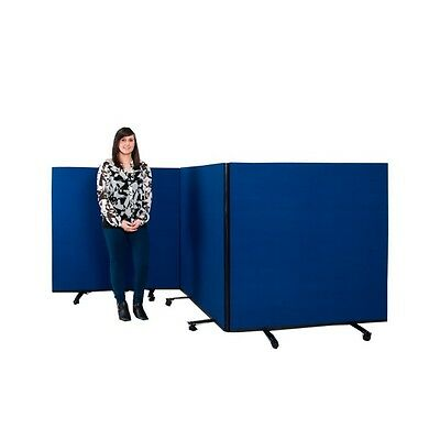 PanelWarehouse Triple Screen Set / Partition on Wheels Size: Small