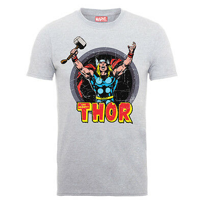 Official Marvel Comics The Mighty Thor - God Of Thunder Grey T-Shirt (Brand New)