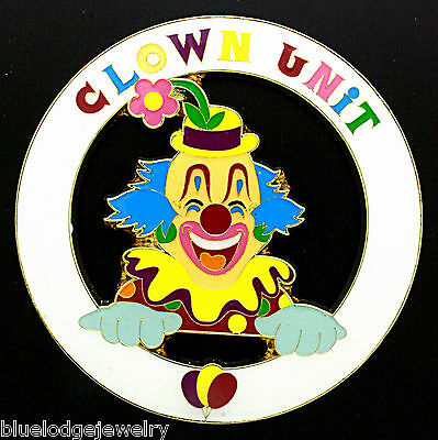 Shriners Clown Parade Unit Car Emblem