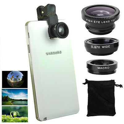 Fish Eye+Wide Angle+Macro Camera Clip-on Lens f Samsung S8/Plus S6/S7/Edge Note8