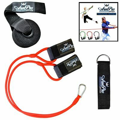 Arm Pro Bands Resistance Training Tool for Baseball Softball Red (Intermediate)