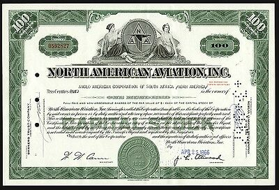 COLLECTOR DEALER or INVESTOR LOT of 100 MINT NORTH AMERICAN AVIATION STOCKS 99c!