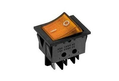 Interruttore a bilanciere 220V 16A bipolare luminoso arancione 12V switch 33x25