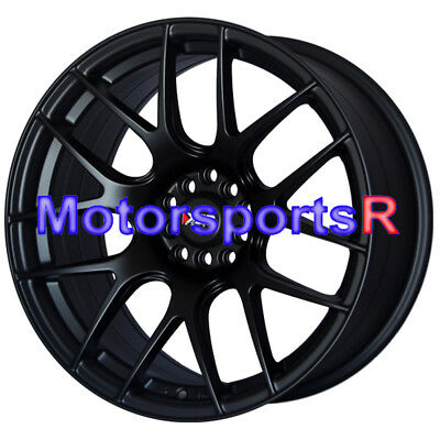 XXR 530 Flat Black 17 17x8.25 Wheels Rims Concave 5x114.3 06 15 Honda Civic SI