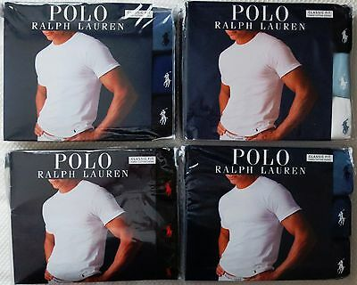 06825590b4 3 PACK POLO Ralph Lauren Crew Necks T-Shirt Classic 100% Cotton S M L Xl 2Xl