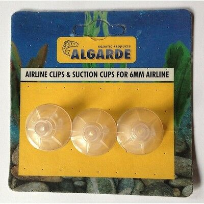 Algarde Aquarium Airline / Rigid Air line Clips & Suction cups Pack of 3 • EUR 2,95