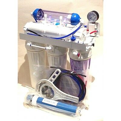 75 g/d 6 Stage Reverse Osmosis System with refillable DI & Backwash