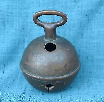 Antique Bronze Cattle Goat Elephant Burmese Bell Good Sound And Patina